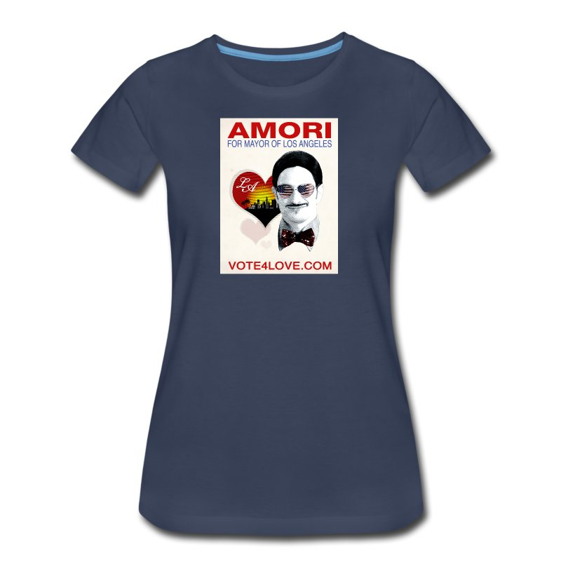Amori for Mayor of Los Angeles eco friendly shirt - Women's Premium T-Shirt