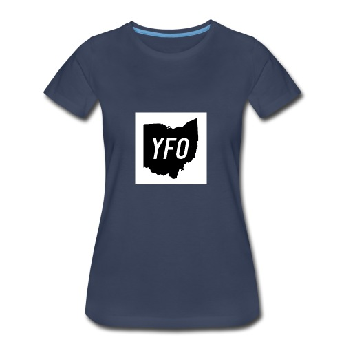YFO Ohio Border Cutout Design - Women's Premium T-Shirt