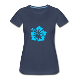 Blue Flower - Women's Premium T-Shirt