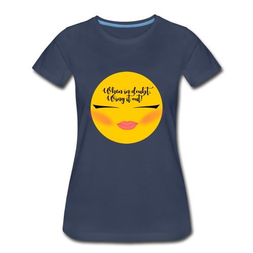 Winged Eyeliner emojii - Women's Premium T-Shirt