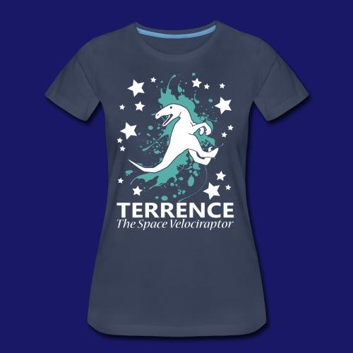Terrence the Space Velociraptor - Women's Premium T-Shirt