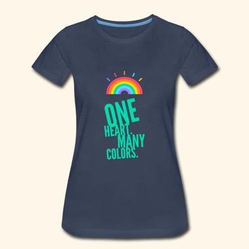 One Heart. Many Colors. - Women's Premium T-Shirt