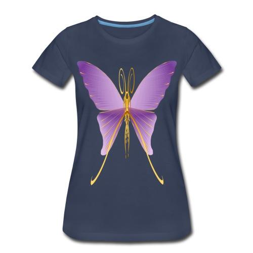 One Big Purple Butterfly - Women's Premium T-Shirt