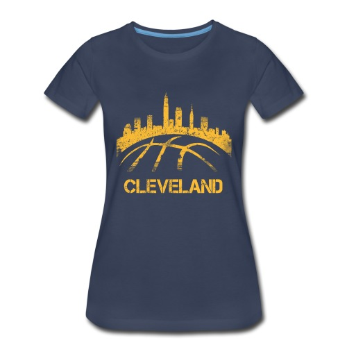 Cleveland Basketball Skyline - Women's Premium T-Shirt