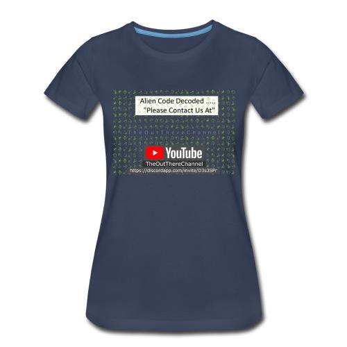 AlienCode v3 TransparentBG2019 - Women's Premium T-Shirt