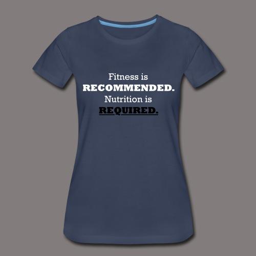 Ladies_Nutrition_Black - Women's Premium T-Shirt