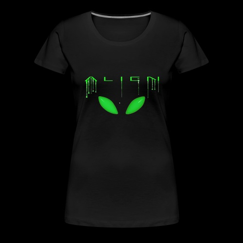 Alien Dribble with ET eyes - Green - Women's Premium T-Shirt