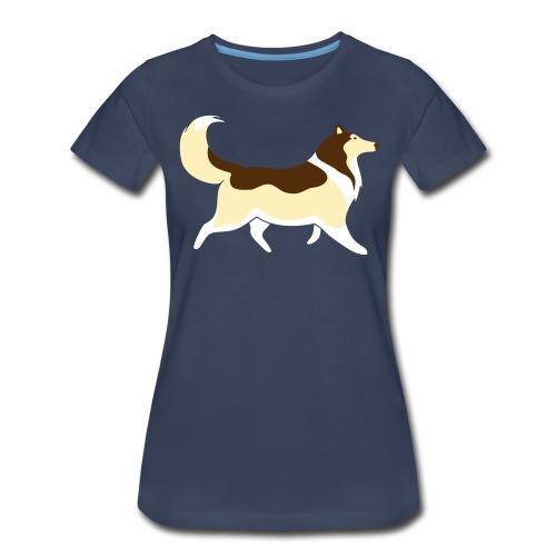 Sable Collie silhouette - Women's Premium T-Shirt