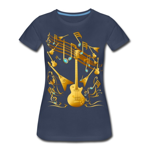 Gold Guitar Party - Women's Premium T-Shirt