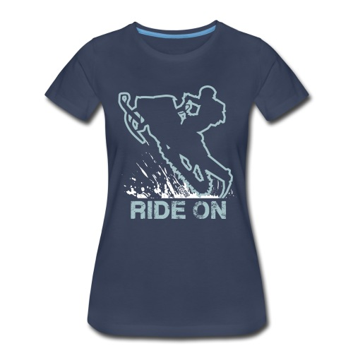 Snowmobile Ride On Sled - Women's Premium T-Shirt