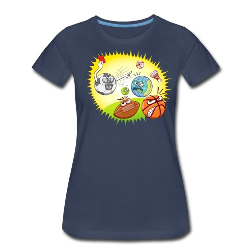 Soccer showing red card to other sports - Women's Premium T-Shirt
