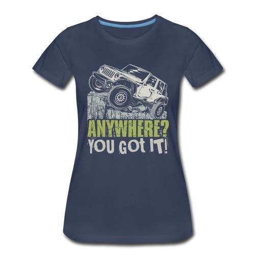Jeep Anywhere - Women's Premium T-Shirt