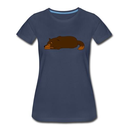 Sleeping Wolf - Women's Premium T-Shirt