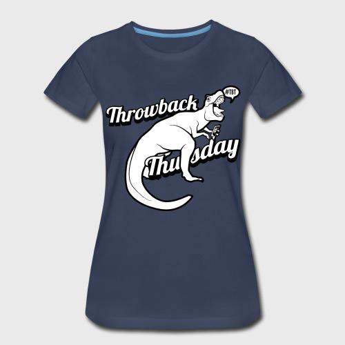 Throwback Thursday T-Rex - Women's Premium T-Shirt