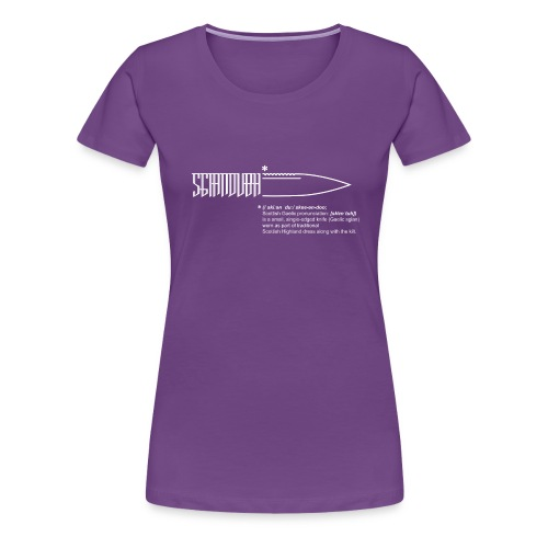 sgiandubh white - Women's Premium T-Shirt