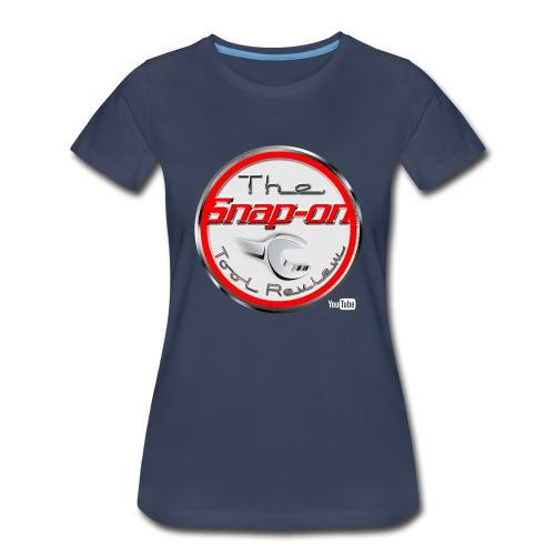 red logo white youtube - Women's Premium T-Shirt