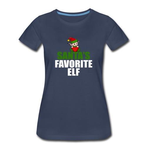 santa's favorite elf christmas t-shirt - Women's Premium T-Shirt