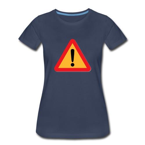 Attention - Warning sign - Women's Premium T-Shirt