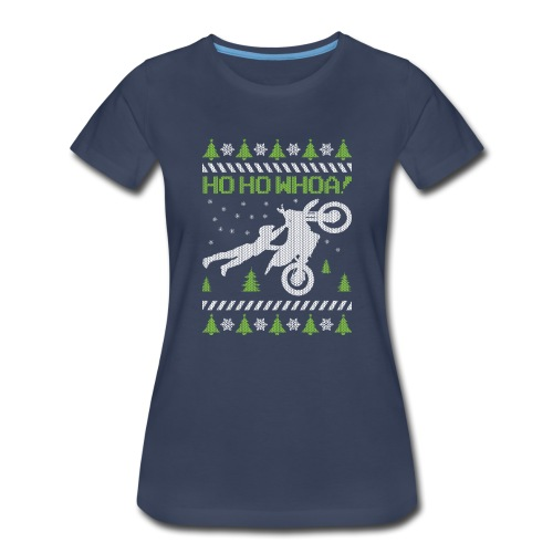 Motorcycle Ugly Christmas - Women's Premium T-Shirt