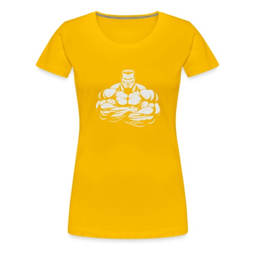 An Angry Bodybuilding Coach - Women's Premium T-Shirt