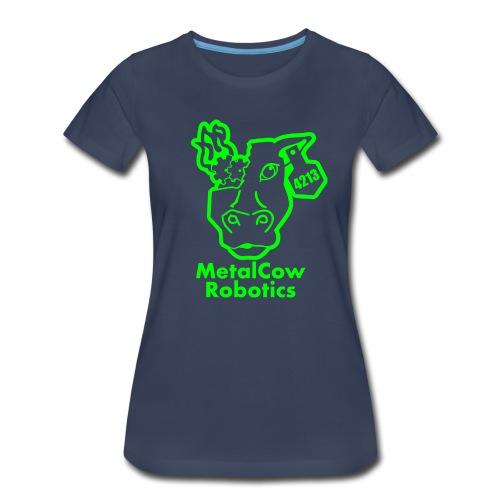 MetalCowLogo GreenOutline - Women's Premium T-Shirt