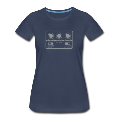 Synth Filter with Knobs - Women's Premium T-Shirt