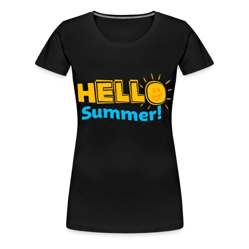 Kreative In Kinder Hello Summer! - Women's Premium T-Shirt