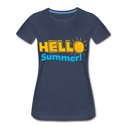 Kreative In Kinder Hello Summer! - Women's Premium T-Shirt