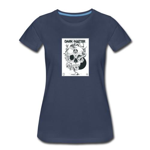 Flowery-Skull - Women's Premium T-Shirt