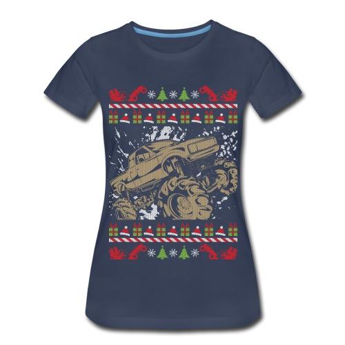 Ugly Christmas Mud Truck - Women's Premium T-Shirt