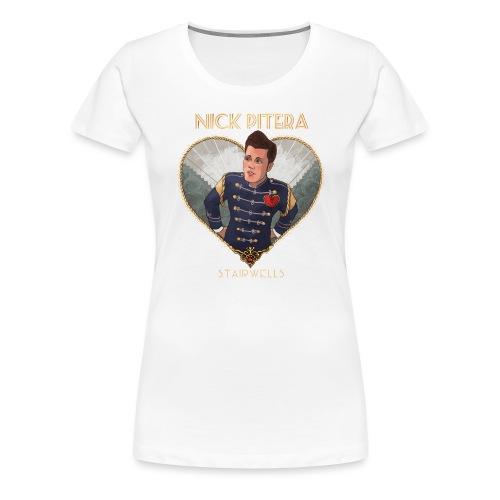 Stairwells EP Heart Text - Women's Premium T-Shirt