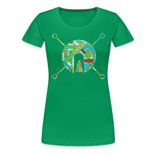 Shad0w Synd1cate Logo Word Cloud (Color) - Women's Premium T-Shirt