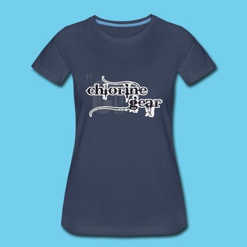Chlorine Gear Textual stacked Periodic backdrop - Women's Premium T-Shirt