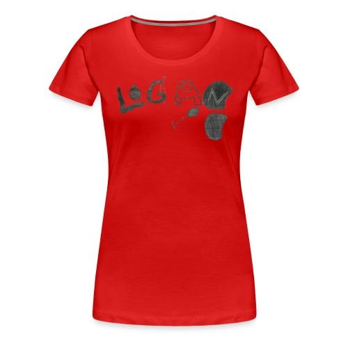 Hand Drawn Halloween Themed Logo - Women's Premium T-Shirt