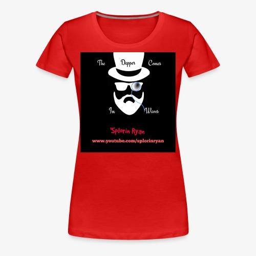 The Dapper Comes in Waves (White on Black Version) - Women's Premium T-Shirt