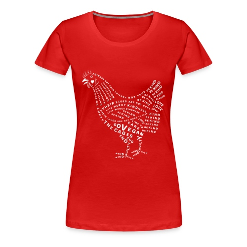 Chicken Design - Women's Premium T-Shirt