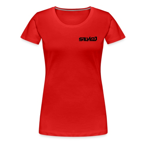 SilvioJ Text Logo Black - Women's Premium T-Shirt