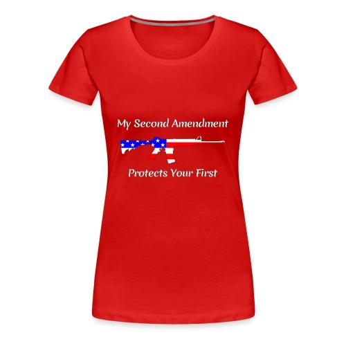 2nd Amendment Protects the 1st - White - Women's Premium T-Shirt