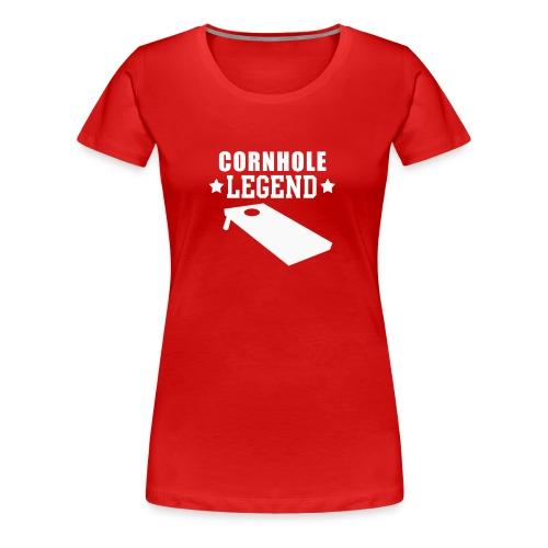 Cornhole Legend Funny Corn Hole Lawn Game - Women's Premium T-Shirt
