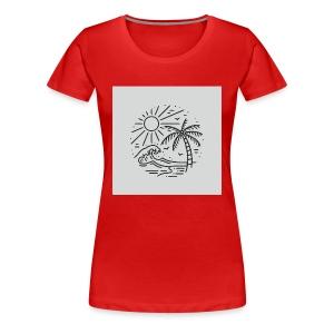 Palm tree clear wave tshirt - Women's Premium T-Shirt