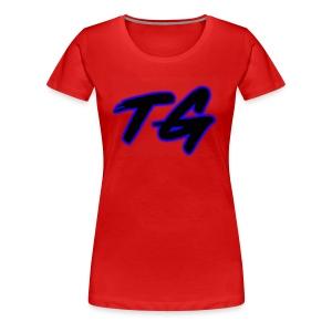 Blue and Black Lettering - Women's Premium T-Shirt