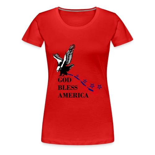 CUSTOM DESIGN GOD BLESS AMERICA - Women's Premium T-Shirt
