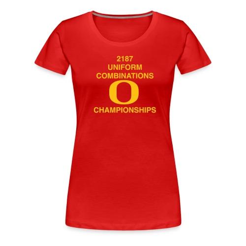 2187 UNIFORM COMBINATIONS O CHAMPIONSHIPS - Women's Premium T-Shirt