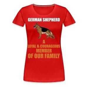 The German Shepherd - Women's Premium T-Shirt