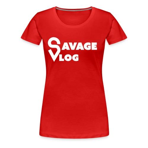 SAVAGE VLOG EDITION BLANC - Women's Premium T-Shirt