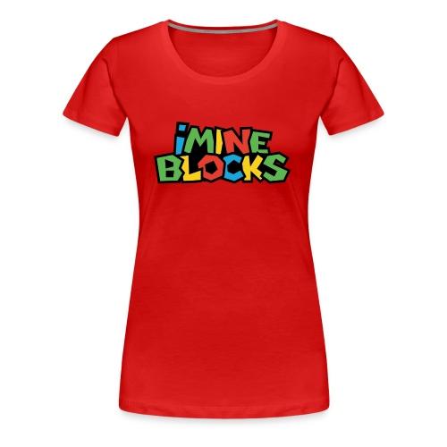 iMine Blocks - Women's Premium T-Shirt