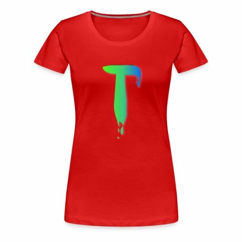 Colored Tlicker Logo - Women's Premium T-Shirt
