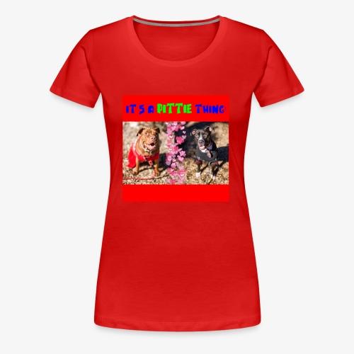 pittie thing flat red j - Women's Premium T-Shirt