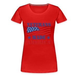 Veterans Made America logo - Women's Premium T-Shirt