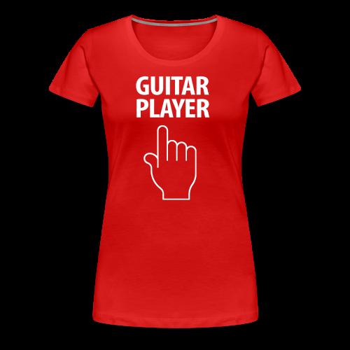GUITAR PLAYER-white Design - Women's Premium T-Shirt